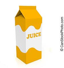 Orange and white juice box