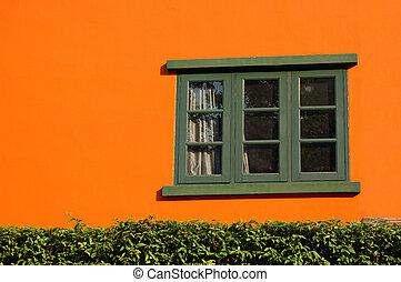 Orange and window
