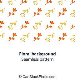 Orange and yellow flowers fancy backdrop pattern