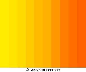 Orange and yellow gradient sunny stripes background.