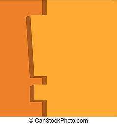 Orange and yellow important note flat design vector template.
