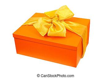 orange, angle, cadeau