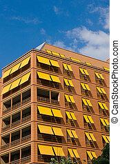 Orange apartment building in Berlin
