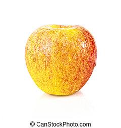 Orange apple isolated over white background