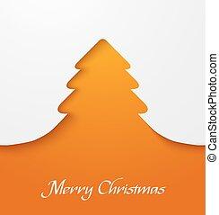 orange, applique, baum, weihnachten
