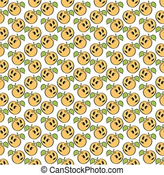 Orange apricot seamless pattern