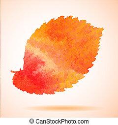 orange, aquarelle, peint, vecteur, el