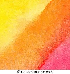 orange, aquarelle, vecteur, fond