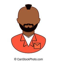 orange arrested man icon image
