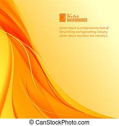 orange, arrière-plan., fumée, jaune