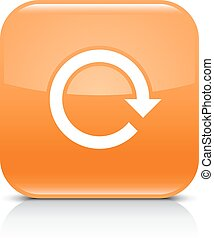 Orange arrow repeat reload refresh rotation sign