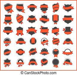 orange, aufkleber, (set, 1)