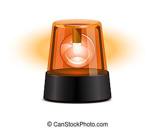 orange, aufleuchtend zündet