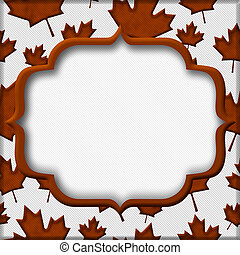 Orange Autumn Leaves Textured Fabric Background with copy-space, Autumn Time Background