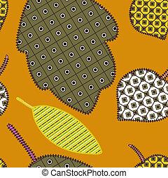 Orange autumn seamless pattern