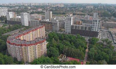 orange, bâtiment, appartement
