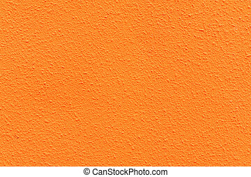 orange, béton, couleur texture