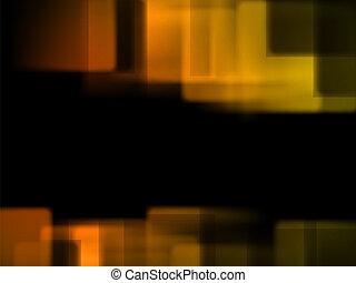 orange background blur rectangles