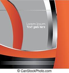 Orange background design with space