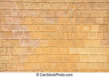 Orange background old wall