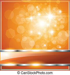 Orange Background - Sparkling orange abstract background,...