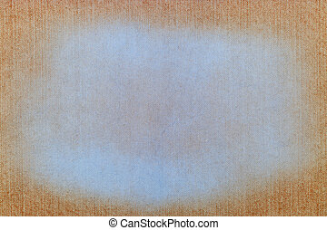 orange background texture of jeans fabric with white shabby stain
