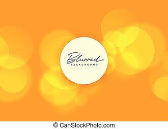 orange background with blurred bokeh lights