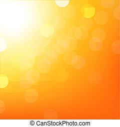 Orange Background With Bokeh