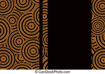 orange background with circles
