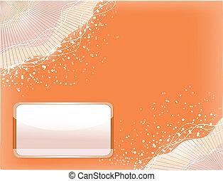 Orange background with lines