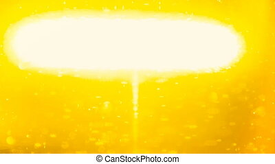 orange background with moving particles and bright light -...