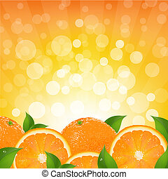 Orange Background With Orange Sunburst, Vector Illustration