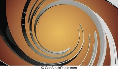 Orange background with spiral Black shape