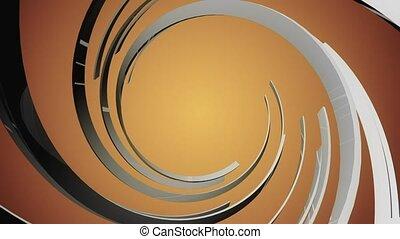 Orange background with spiral Black shape