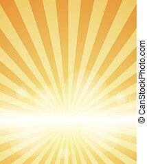 Orange Background With Sunburst. Vector Illustration