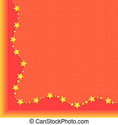 orange background with yellow stars
