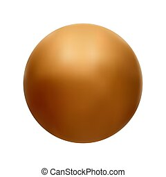orange ball vector illustration on a white isolated background