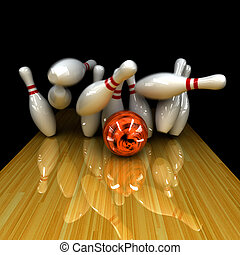 orange, balle, strike!