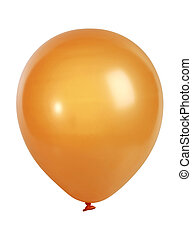 orange, balloon, blanc, isolé