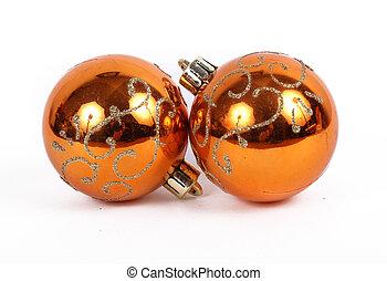 orange balls christmas ornament