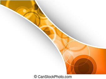 orange, banner