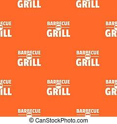 orange, barbecue, vecteur, gril, modèle