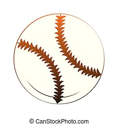 orange, baseball ball, linien, freigestellt