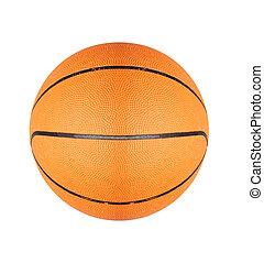 Orange basketball ball isolated on white