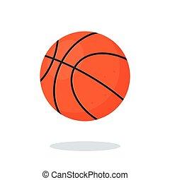 Orange Basketball ball on white background.