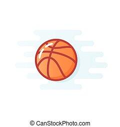 Orange basketball ball vector illustration