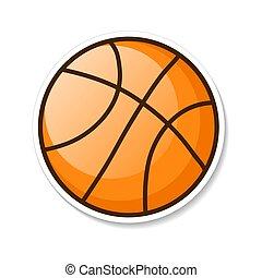 Orange Basketball Ball Vector Illustration. Eps 10