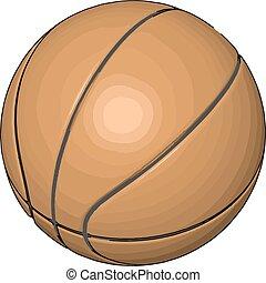 Orange basketball ball vector illustration on white background