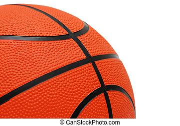 Orange basketball isolated on the white background