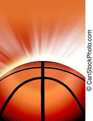Orange Basketball Sport Background - A close up of an orange...
